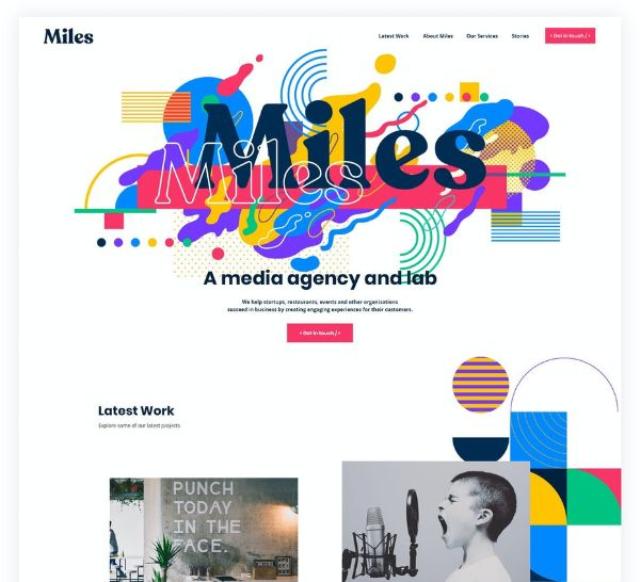 网站设计利用抽象的艺术作品